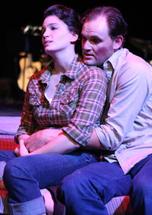 "Taylor Pietz and Philip Leveling as Caril and Charlie in New Line Theatre's ""Love Kills,"" 2009"